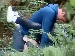 Teen couple caught fucking in public park