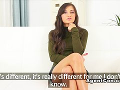 Hairy amateur fucks fake agent casting european