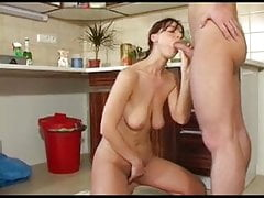 Nice Hairy Housewife Pussy nice Fuck in the kitchen hot Amateur Anal fuck