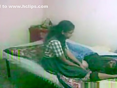Cute nerdy glassed indian girl makes a sextape