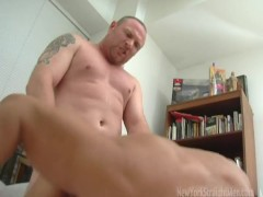 Chubby, masculine straight guy pounds poor Bobby hard